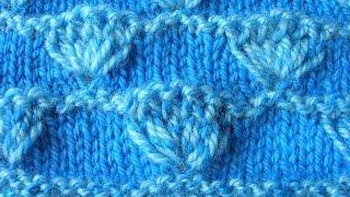 getlinkyoutube.com-Узоры спицами - двухцветный узор Пучки