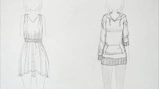 getlinkyoutube.com-How to Draw Manga: Clothing Folds (request)