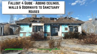 getlinkyoutube.com-Fallout 4 Guide  - How to add ceilings, walls & doorways to the houses in Sanctuary