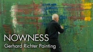 getlinkyoutube.com-Gerhard Richter Painting: watch the master artist at work