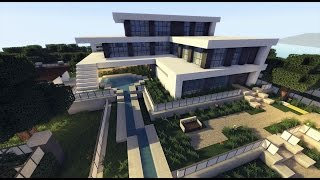 getlinkyoutube.com-MINECRAFT: How To build A Modern House / Best modern House 2015 ( hd ) Tutorial