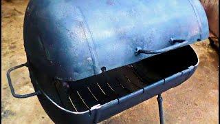getlinkyoutube.com-Мангал за 1 час 30мин  Homemade BBQ Smoker
