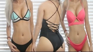 getlinkyoutube.com-Bikini & Swimsuit Collection + TRY ON