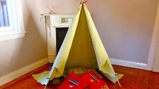 getlinkyoutube.com-How to Build a teepee: Make your own indoor teepee or indoor cubby