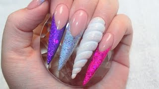 3D UNICORN HORN | UNICORN LAND ACRYLIC NAILS TUTORIAL