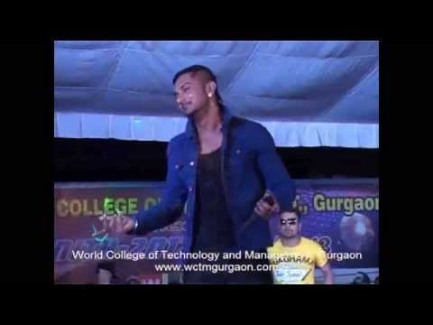 YO YO Honey Singh at World College of Technology & Management Gurgaon