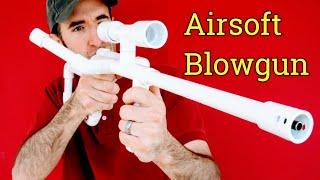 getlinkyoutube.com-Airsoft Machine Gun Sniper Rifle DIY PVC Homemade Blowgun