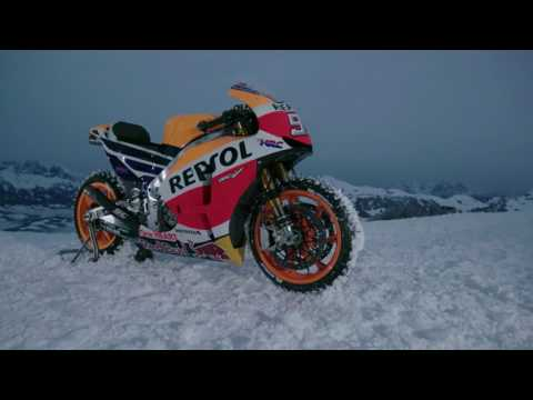 M�rquez leva a sua RC213V � neve!