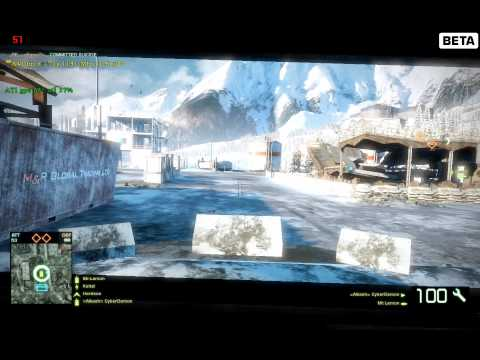Battlefield Bad Company 2 PC beta - Engineer BMD-AA gameplay - [HD]