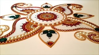 getlinkyoutube.com-Readymade OHP kundan rangoli