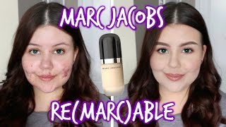getlinkyoutube.com-First Impressions | Marc Jacobs Remarcable Foundation (Oily/Acne)