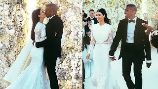 getlinkyoutube.com-Kim Kardashian & Kanye West Wedding Photos!