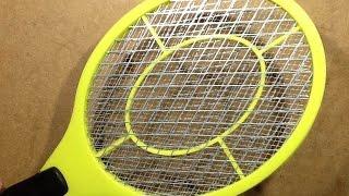 getlinkyoutube.com-Inside a bug zapper racket / racquet , with schematic.