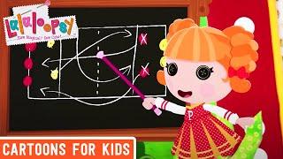 getlinkyoutube.com-Peppy Pom Poms Plays Peppyball! | Lalaloopsy