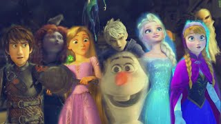 getlinkyoutube.com-Rise of the Brave Tangled Frozen Dragons    We Are Family [MV]