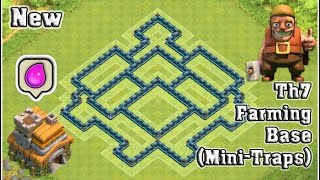 Th7 Farming Base ( Mini-Traps) || Clash of Clans [2015]