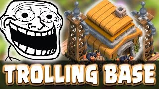 getlinkyoutube.com-Clash Of Clans | TH6 NOOB TROLLING BASE | Funny Defense & Speed Build