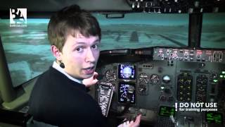 getlinkyoutube.com-Cross - wind take-- off and landing on a Boeing 737 CL. Baltic Aviation Academy