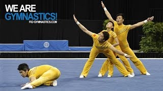 getlinkyoutube.com-2012 Acrobatic Worlds - LAKE BUENA VISTA, USA - Men's Group Final - We are Gymnastics!