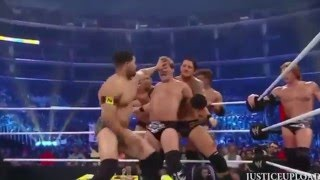 getlinkyoutube.com-John Cena Team vs Team Nexus Bloody Match - WWE