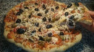 getlinkyoutube.com-بيتزا سهلة بعجينة ناجحة100% وحشوة لذيذة