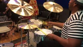 Eric Moore  Simple Song Sly And the Family Stone rehearsal width=