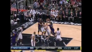 getlinkyoutube.com-Manu Ginóbili: New Orleans Pelicans vs San Antonio Spurs