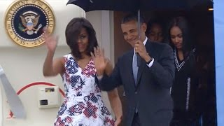 President Obama arrives in Cuba on historic visit