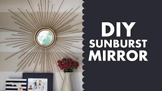 getlinkyoutube.com-DIY Gold Mid Century Modern Sunburst Mirror