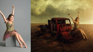 getlinkyoutube.com-Photoshop CC Tutorials | Photo Manipulation | Girl in desert