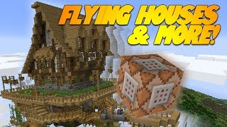 getlinkyoutube.com-FLYING HOUSES IN MINECRAFT!? MINECRAFT AIRPLANES! Minecraft 1.8 Update (Snapshot)