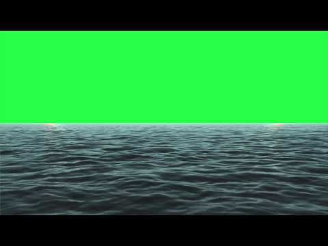 Sea/Ocean animated Green Screen #1 (1080p)