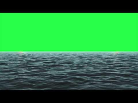 Sea/Ocean animated Green Screen #1 (1080p)