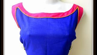 getlinkyoutube.com-BOAT NECKLINE  for KURTIS / SALWAR KAMEEZ / BLOUSES - CUTTING AND SEWING - DESIGN IT YOURSELF