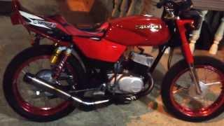 getlinkyoutube.com-Suzuki Ax 115 preparada, primeras impresiones de la modificacion