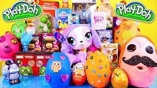 getlinkyoutube.com-Play Doh Eggs Surprise Toys Videos Kidrobot BFF Marvel Vinylmations Little Mermaid Toy Surprise DCTC