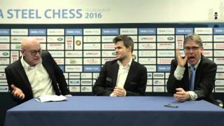 getlinkyoutube.com-Tata Steel Chess 2016 - Final Press Conference - Magnus Carlsen