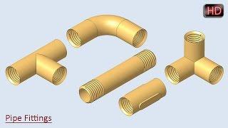 getlinkyoutube.com-Pipe Fittings    Creo Parametric Tutorial