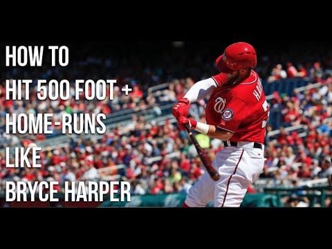 Bryce Harper Hitting Secret: How To  Hit 500 foot + Home-Runs  Like  Bryce Harper