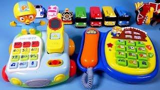 뽀로로 전화기 Pororo 타요 폴리 또봇 장난감 Pororo Telephone toys