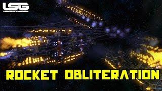 getlinkyoutube.com-Space Engineers - Rocket Obliteration Large Ship Battle