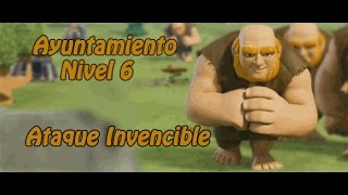 getlinkyoutube.com-Clash of Clans ayuntamiento 6 ejercito invencible