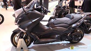 getlinkyoutube.com-2016 Yamaha TMax Iron Max ABS 530 - Walkaround - 2015 Salon de la Moto Paris