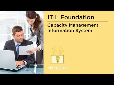 Simplilearn: ITIL Capacity Management Information System (CMIS) | ITIL V3 Foundation Online Training