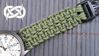 getlinkyoutube.com-How to make a Wide Solomon Paracord Watch Band