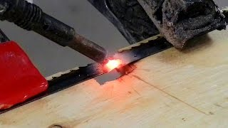 getlinkyoutube.com-Welding A Broken Band Saw Blade (And Other Fun Stuff)