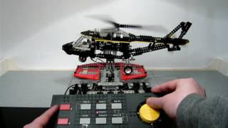 getlinkyoutube.com-LEGO 8485 Technic Control Center II - Helicopter - built in Stop Motion (released 1995)  / HD 720p