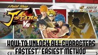 J-Stars Victory VS+ How To Unlock All Characters (FASTEST/ EASIEST METHOD)