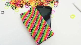 getlinkyoutube.com-Loom Bands Handyhülle HTC ONE Smartphone Case with the Rainbow Loom Tutorial | deutsch