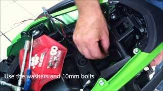 getlinkyoutube.com-Fitting the R&G tail tidy to a 2013 Kawasaki ER6-N by Jesters Trick Bits